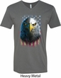 Eagle Stare Mens V-Neck Shirt