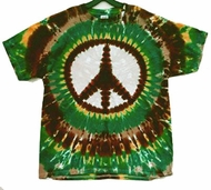 Earth Peace Sign Tie-Dye T-Shirt - Short Sleeve