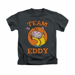 Ed, Edd N Eddy Shirt Kids Team Eddy Charcoal Youth Tee T-Shirt