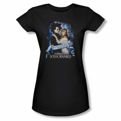 Edward Scissorhands Shirt Juniors That Night Black Tee T-Shirt