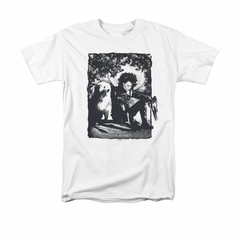 Edward Scissorhands Shirt Lucky Dog Adult White Tee T-Shirt