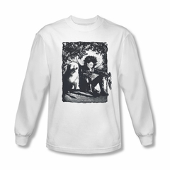 Edward Scissorhands Shirt Lucky Dog Long Sleeve White Tee T-Shirt