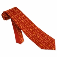 Elements Red Polyester Tie Necktie � Men�s Geek Neck Tie