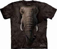 Elephant Shirt Tie Dye Face T-shirt Adult Tee