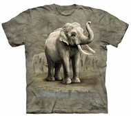 Elephants Kids Shirt Tie Dye Asian Animals T-shirt Tee Youth