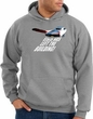 Elvis Hoodie Classic Rock King Left The Building Hoody Heather