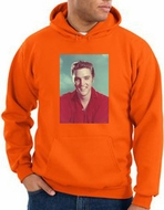 Elvis Hoodie Classic Rock King Red Headshot Hoody Orange