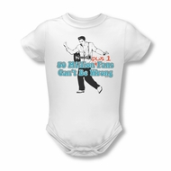 Elvis Presley Baby Romper 50 Million Fans Plus 1 White Infant Babies Creeper