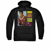 Elvis Presley Hoodie Blue Hawaii Album Black Sweatshirt Hoody