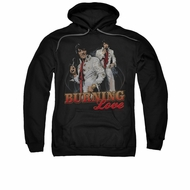 Elvis Presley Hoodie Burning Love Black Sweatshirt Hoody