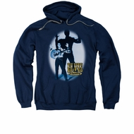 Elvis Presley Hoodie Hands Up Navy Sweatshirt Hoody