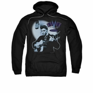 Elvis Presley Hoodie Hillbilly Cat Black Sweatshirt Hoody
