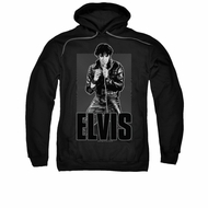 Elvis Presley Hoodie Leather Charcoal Sweatshirt Hoody