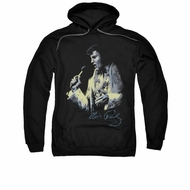 Elvis Presley Hoodie Painted King Black Sweatshirt Hoody