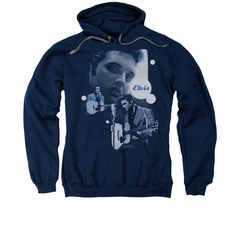Elvis Presley Hoodie Play That Guitar Navy Sweatshirt Hoody