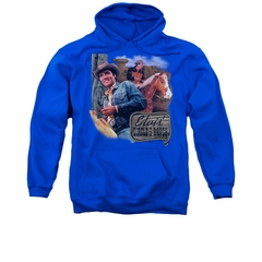Elvis Presley Hoodie Ranch Royal Blue Sweatshirt Hoody