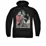 Elvis Presley Hoodie Rock N Roll Smoke Black Sweatshirt Hoody