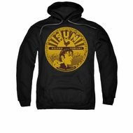 Elvis Presley Hoodie Sun Records Full Logo Black Sweatshirt Hoody