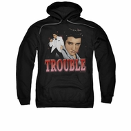 Elvis Presley Hoodie Trouble In A White Suit Black Sweatshirt Hoody