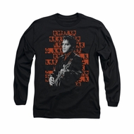 Elvis Presley Shirt 1968 Long Sleeve Black Tee T-Shirt