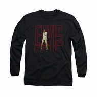 Elvis Presley Shirt 68 Album Long Sleeve Black Tee T-Shirt