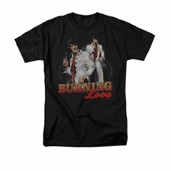 Elvis Presley Shirt Burning Love Black T-Shirt