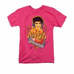 Elvis Presley Shirt Burning Love Hot Pink T-Shirt