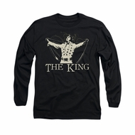Elvis Presley Shirt Cape Long Sleeve Black Tee T-Shirt