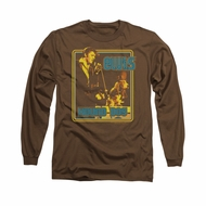 Elvis Presley Shirt Cryin All The Time Long Sleeve Brown Tee T-Shirt