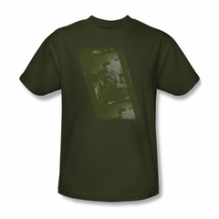 Elvis Presley Shirt Film Strip Olive T-Shirt