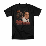 Elvis Presley Shirt Follow That Dream Black T-Shirt