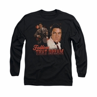 Elvis Presley Shirt Follow That Dream Long Sleeve Black Tee T-Shirt