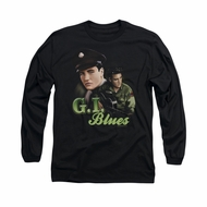 Elvis Presley Shirt G.I. Uniform Long Sleeve Black Tee T-Shirt