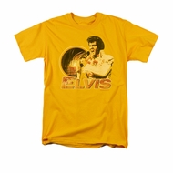 Elvis Presley Shirt Hawaii Style Gold T-Shirt