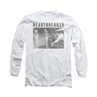 Elvis Presley Shirt Heartbreaker Long Sleeve White Tee T-Shirt