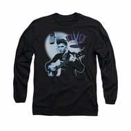 Elvis Presley Shirt Hillbilly Cat Long Sleeve Black Tee T-Shirt