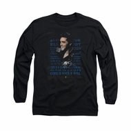 Elvis Presley Shirt Icon Long Sleeve Black Tee T-Shirt