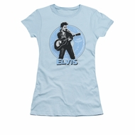 Elvis Presley Shirt Juniors 45 RPM Light Blue T-Shirt