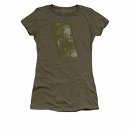 Elvis Presley Shirt Juniors Film Strip Olive T-Shirt