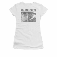 Elvis Presley Shirt Juniors Heartbreaker White T-Shirt