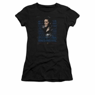 Elvis Presley Shirt Juniors Icon Black T-Shirt