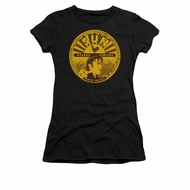 Elvis Presley Shirt Juniors Sun Records Full Logo Black T-Shirt