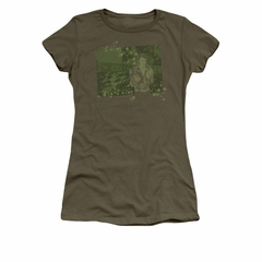 Elvis Presley Shirt Juniors That 70's Military Green T-Shirt