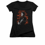 Elvis Presley Shirt Juniors V Neck 1968 Black T-Shirt