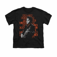 Elvis Presley Shirt Kids 1968 Black T-Shirt