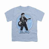 Elvis Presley Shirt Kids 45 RPM Light Blue T-Shirt
