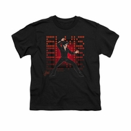 Elvis Presley Shirt Kids 69 Anime Black T-Shirt