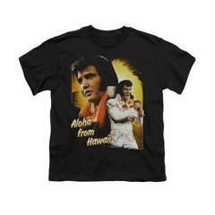 Elvis Presley Shirt Kids Aloha Sing It Black T-Shirt