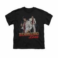 Elvis Presley Shirt Kids Burning Love Black T-Shirt