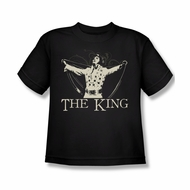 Elvis Presley Shirt Kids Cape Black T-Shirt
